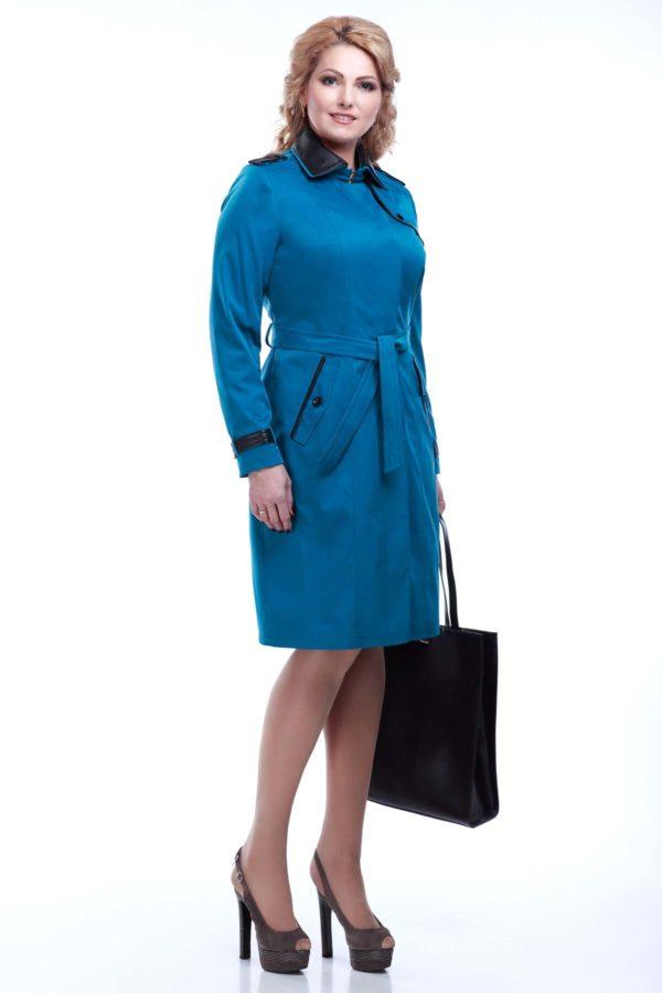 куртки женские украина Парма лазурно-бирюзовый коттон
