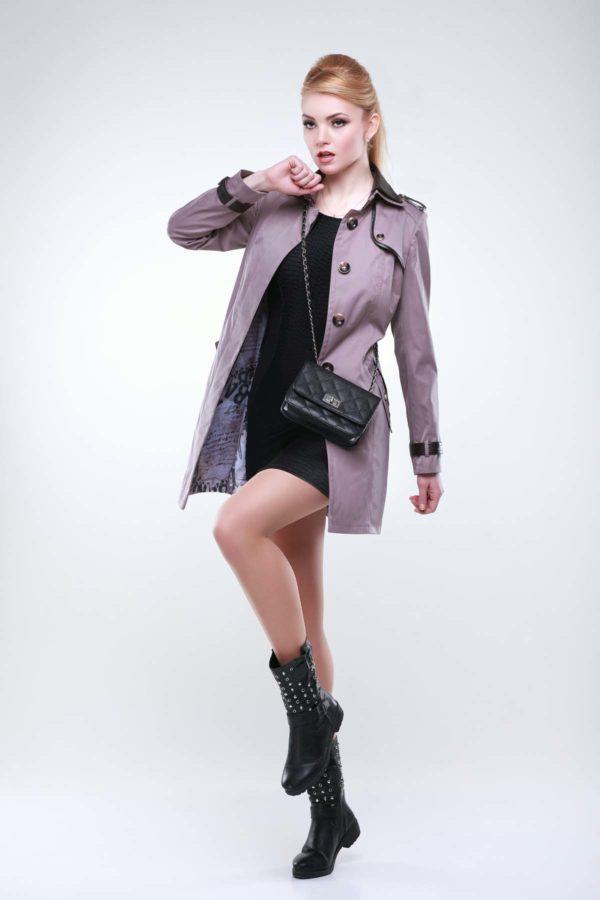 куртки женские украина Парма лилово-дымчатый коттон