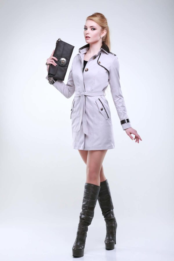 куртки женские украина Парма пудра коттон