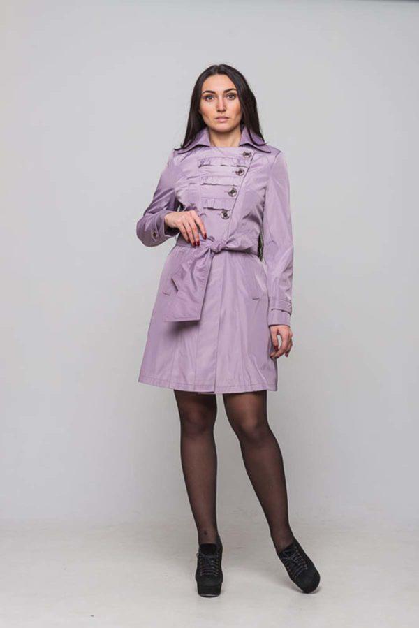 Плащ Теффі сіро-фіолетовий