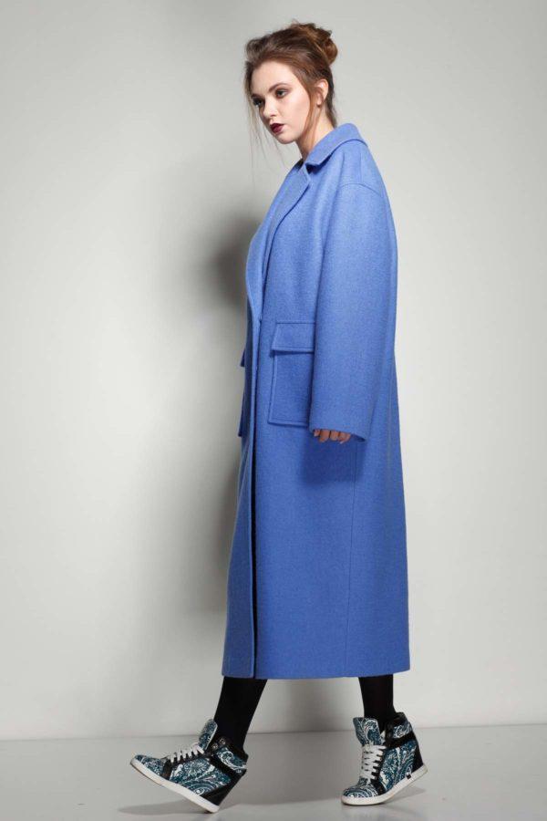 купить пальто женское весна-осень Lana Стефани синяя река
