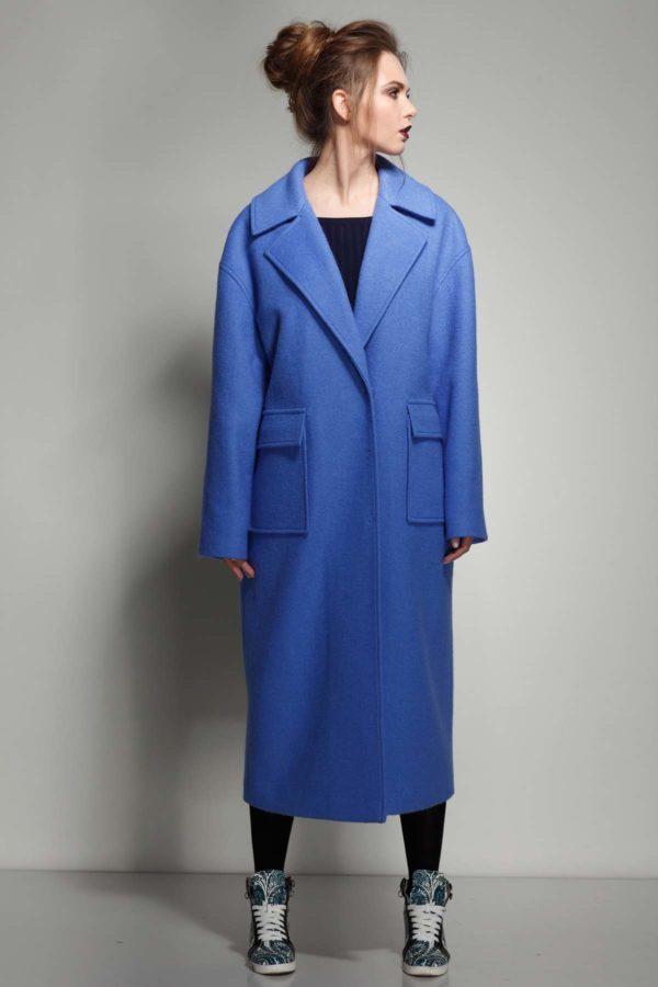 купити пальто жіноче весна-осінь Lana Стефані синя річка