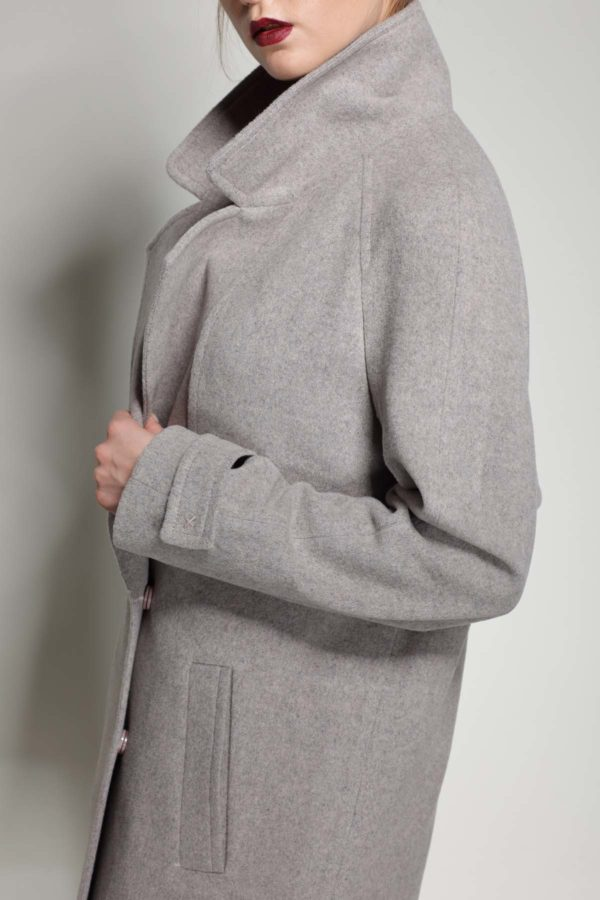 Купить пальто осень Шерсть Италия Фелиция светлый мокко