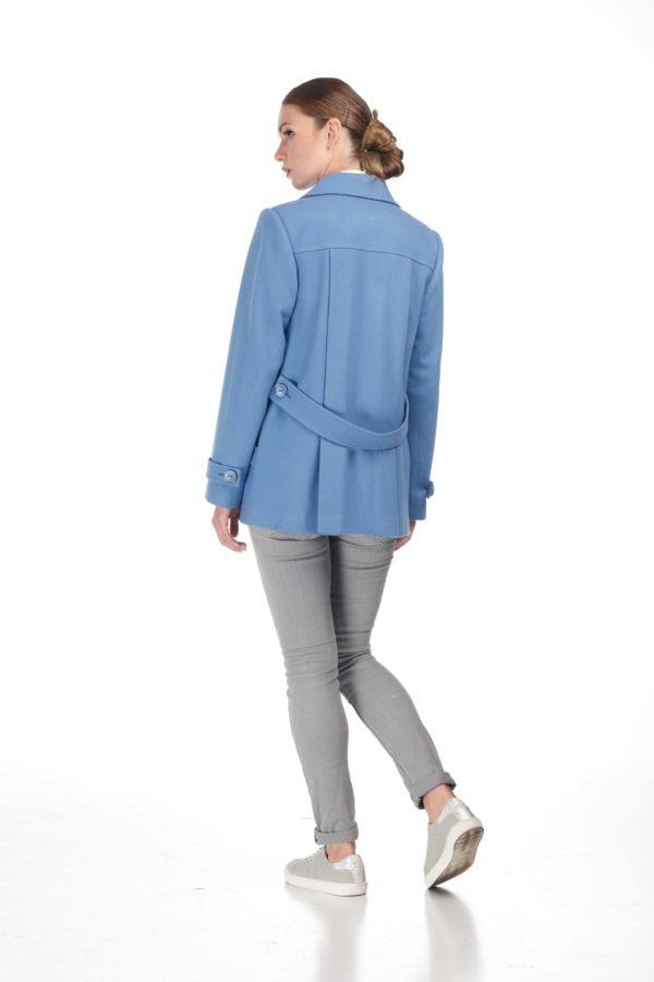 пальто женское Melton Риана голубой