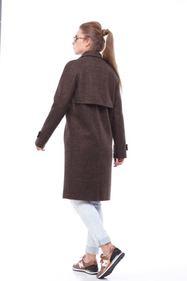 Купить пальто осень Nick Фелиция коричнево-желтый