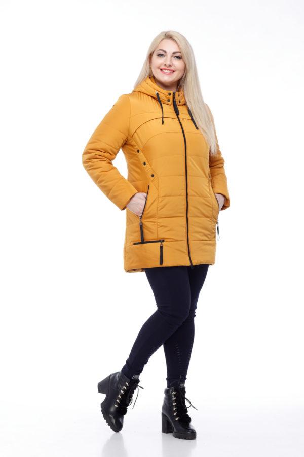 Курточка Фристайл теплый желтый большой размер канада