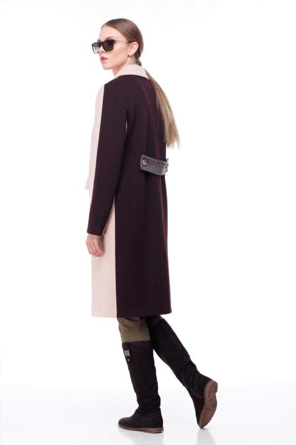 купити пальто жіноче весна-осінь Тара Кемел клітина шоколад