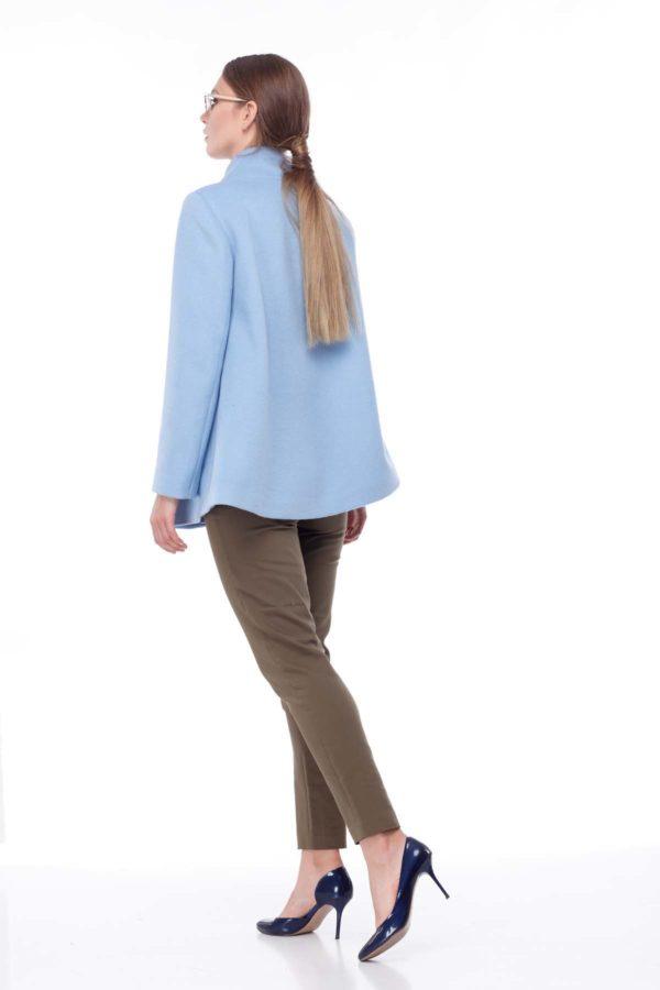 пальто Евіта Шерсть Італія блакитна