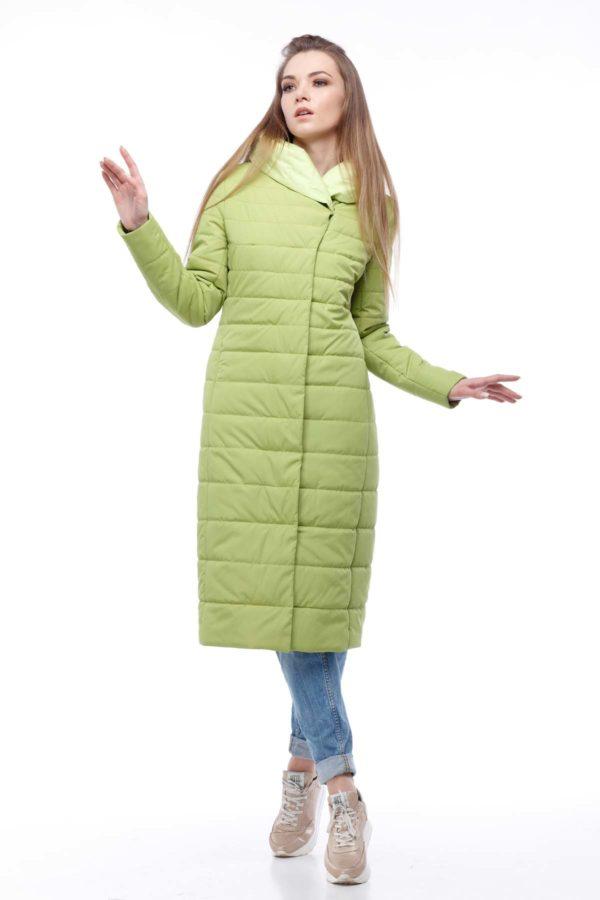 купить стеганое пальто от производителя Сима лайм лимон ammy