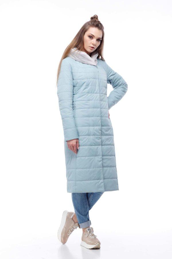купить стеганое пальто от производителя Сима аквамаринпломбир ful dal