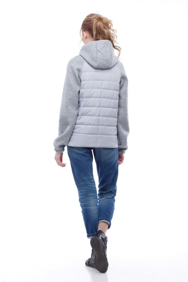 Фреш NEW Светло-серый+светло-серый ammy Осень Весна Куртка Фреш NEW