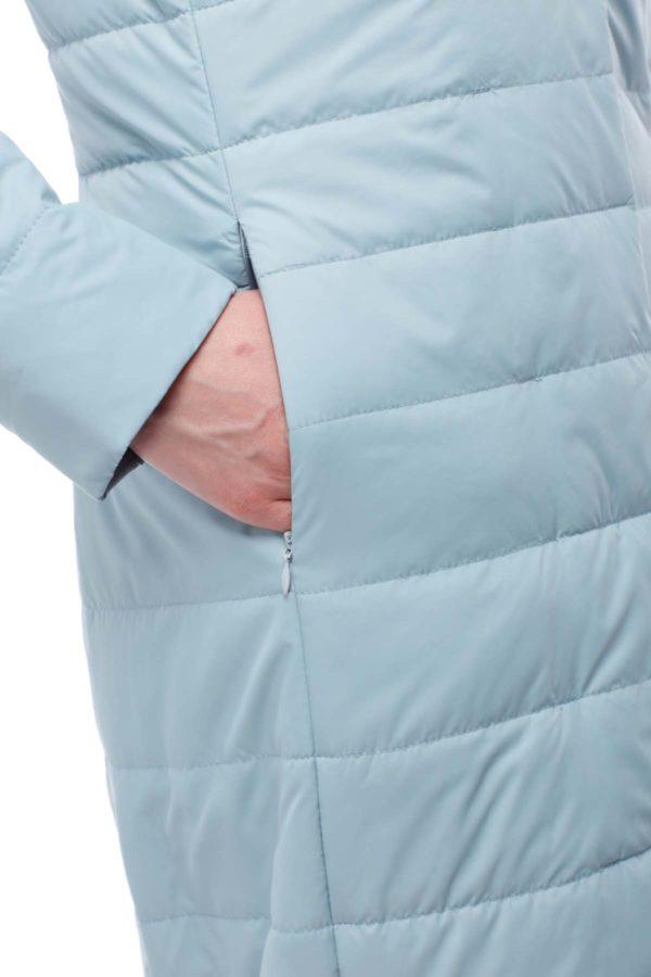 купить стеганое пальто от производителя Сима аквамарин пломбир ful dal