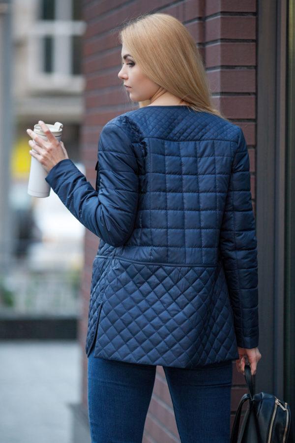 Купить куртку оптом Челси жакет темно-синий memory oil