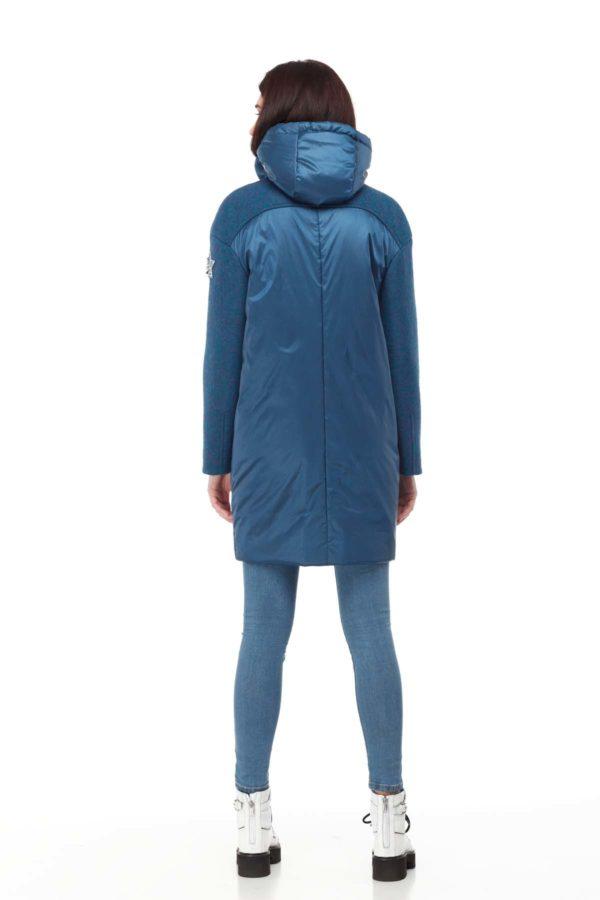 Россела изумруд + синий сатин
