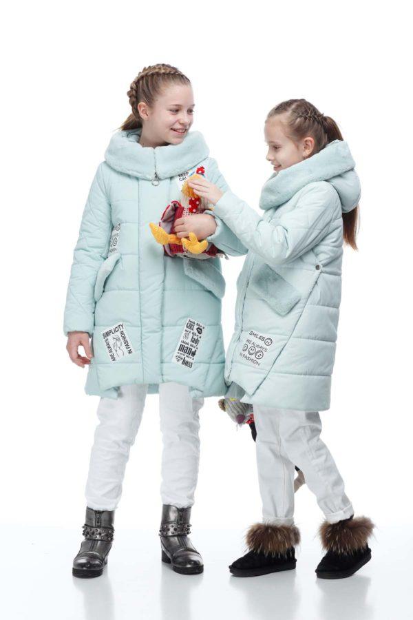 Детское пальто стеганое Юта мята