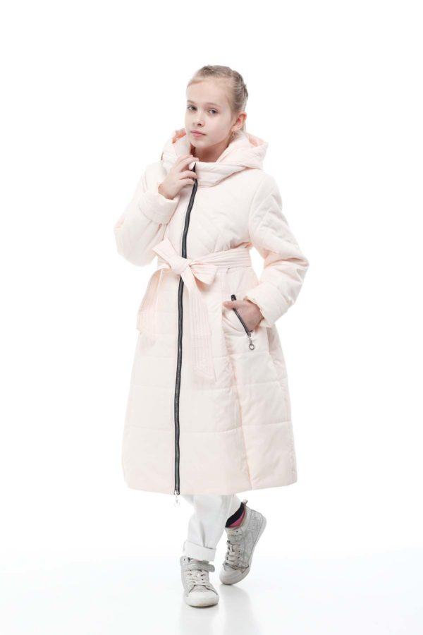 Дитяче пальто стьогане АВРОРА sire персик