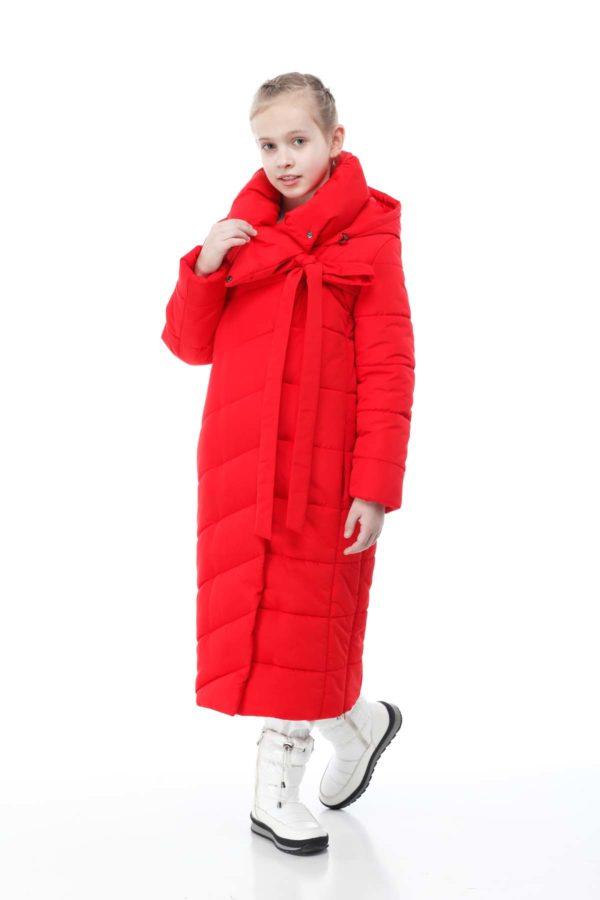 Дитяче пальто стьогане ВЕРОНИКА ammy яскраво-червоний