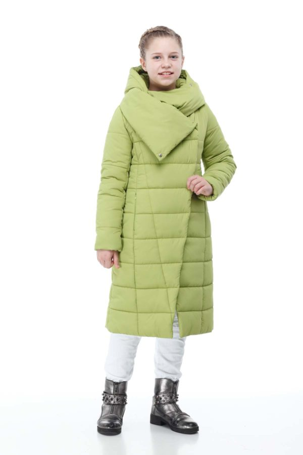 Пальто стеганое Камила салатовый